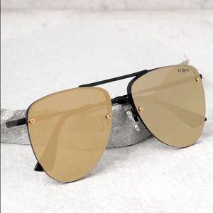 LE SPECS - The Prince Mattte Black Aviator Glasses